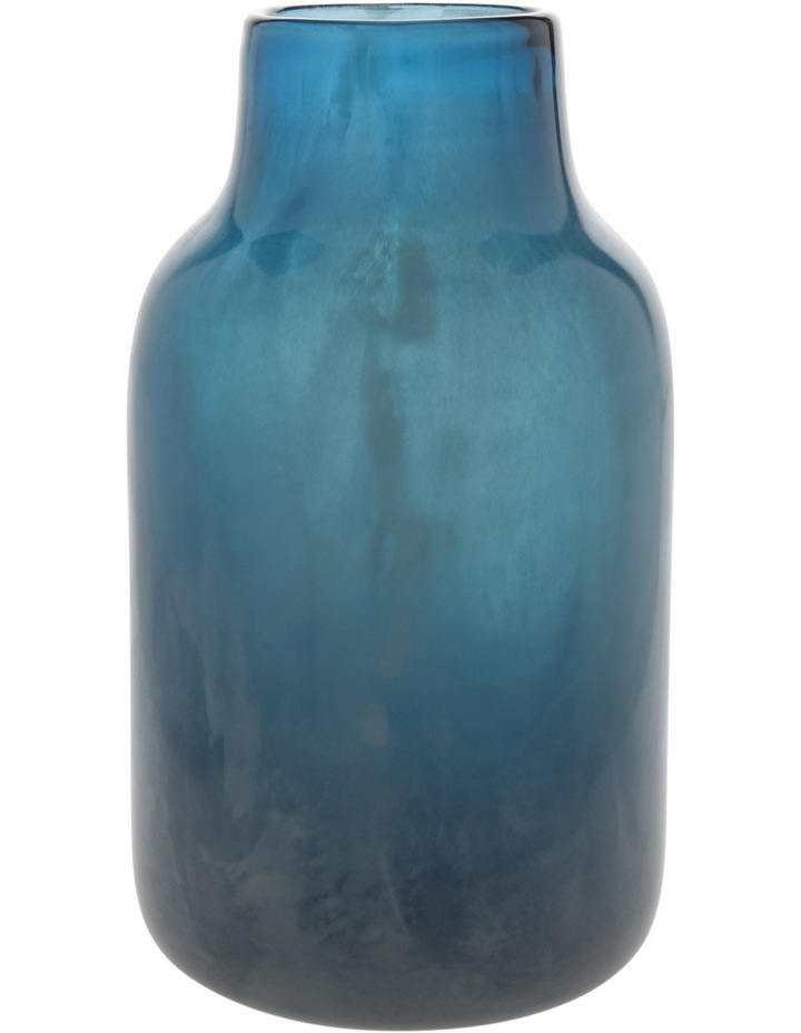 Glass Luster Bottle Blue 23cm image 1