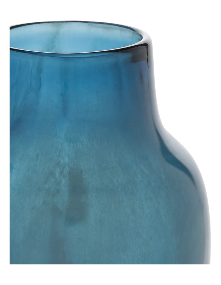 Glass Luster Bottle Blue 23cm image 2