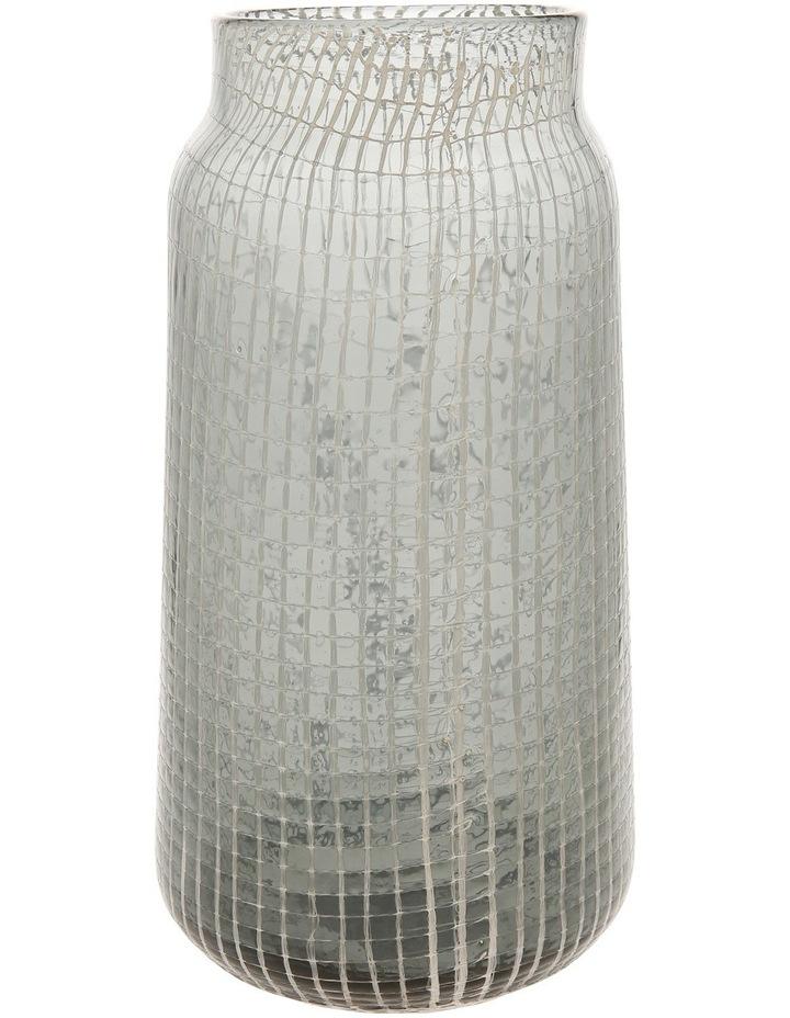 Glass Grid Vase Grey 28.5cm image 1