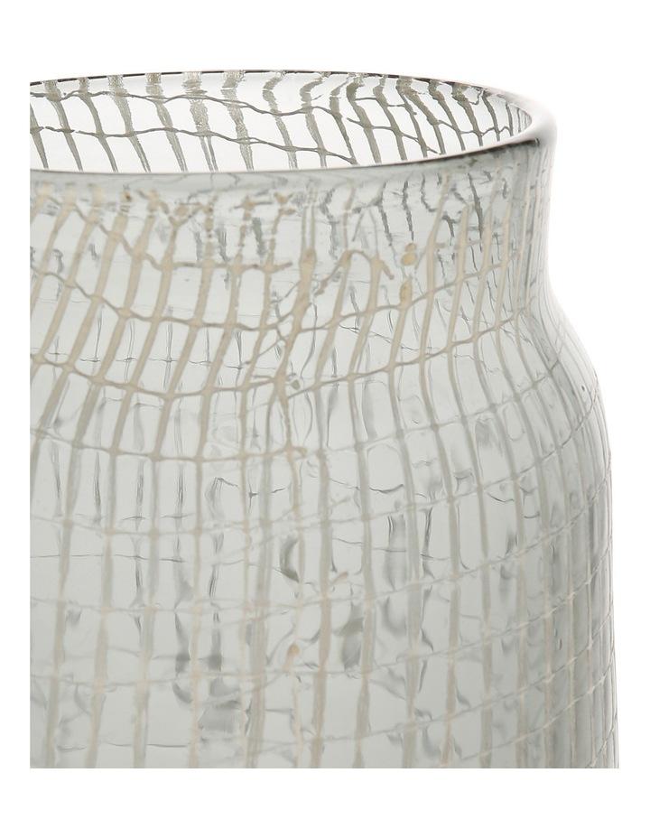 Glass Grid Vase Grey 28.5cm image 2