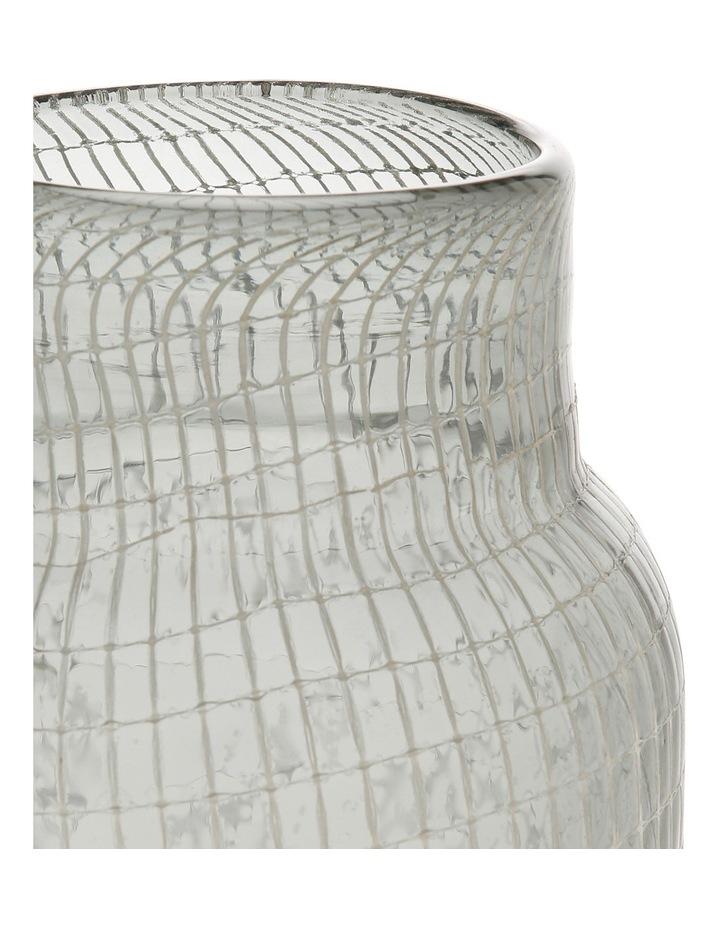 Glass Grid Vase Grey 32.5cm image 2