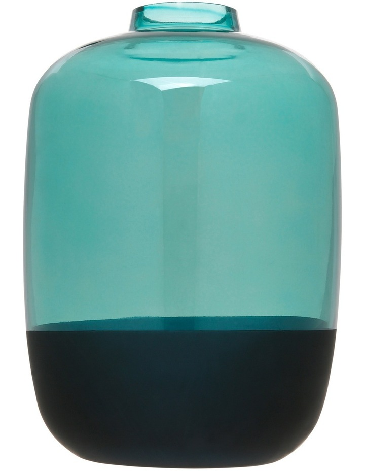 Electroplated & Matt Small Mouth Vase Dark Green 28cm image 1