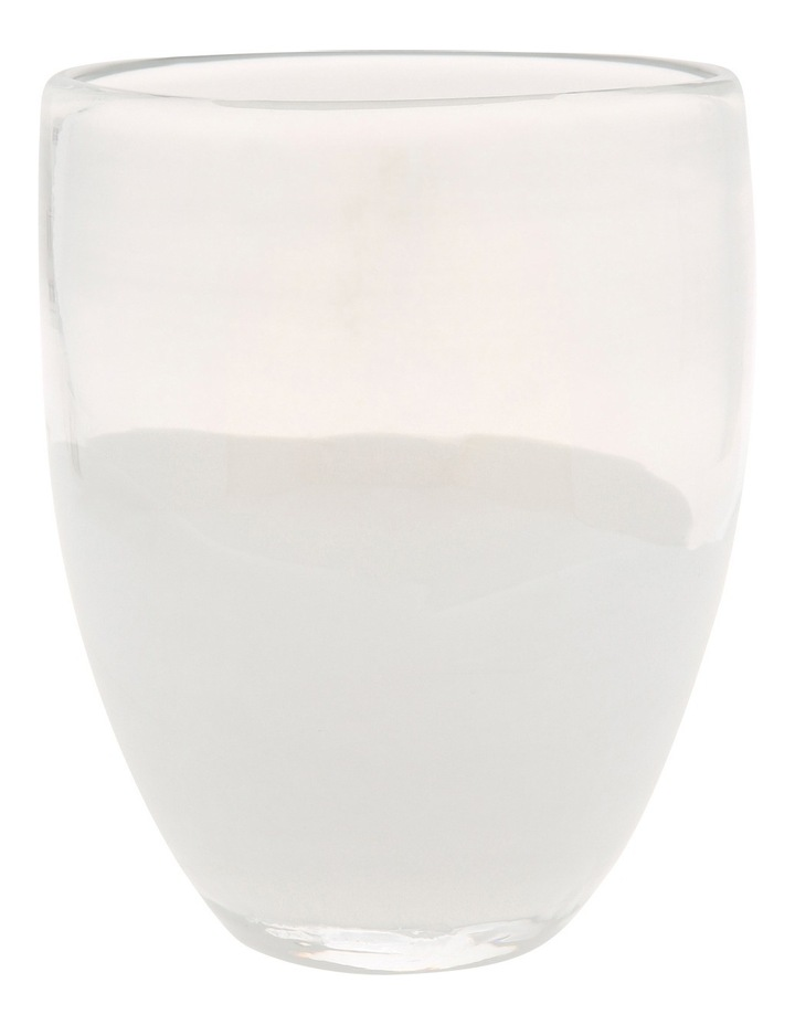 Vue Translucent White Glass Vase with Luster Finish 11cm image 1