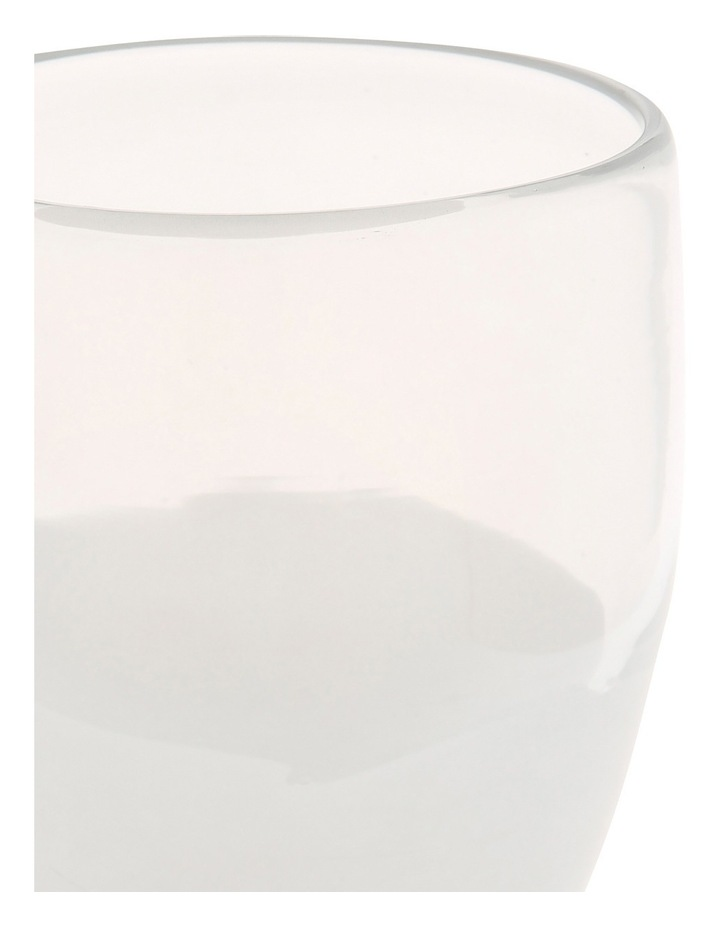 Vue Translucent White Glass Vase with Luster Finish 11cm image 2