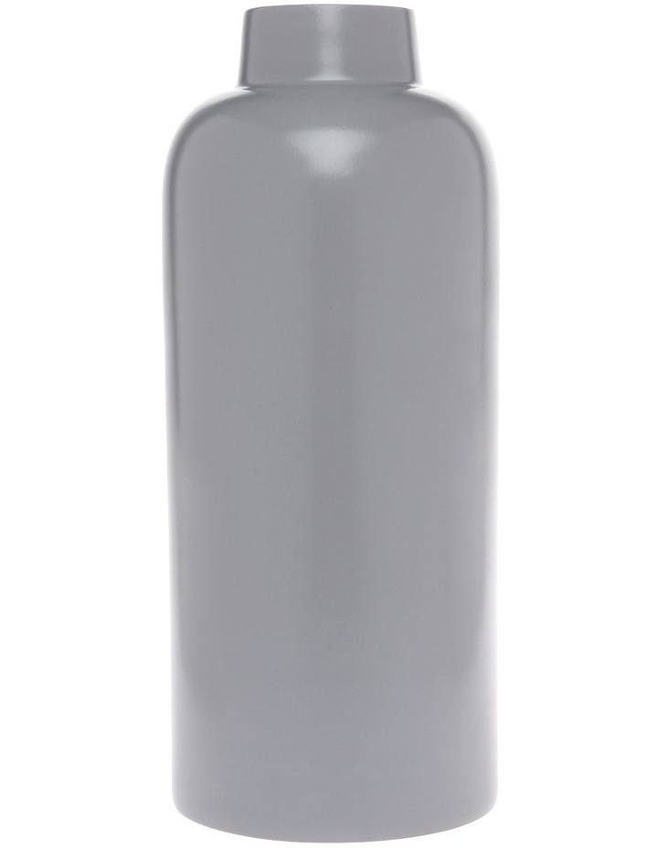 Simple Metal Small Vase Light Grey image 1
