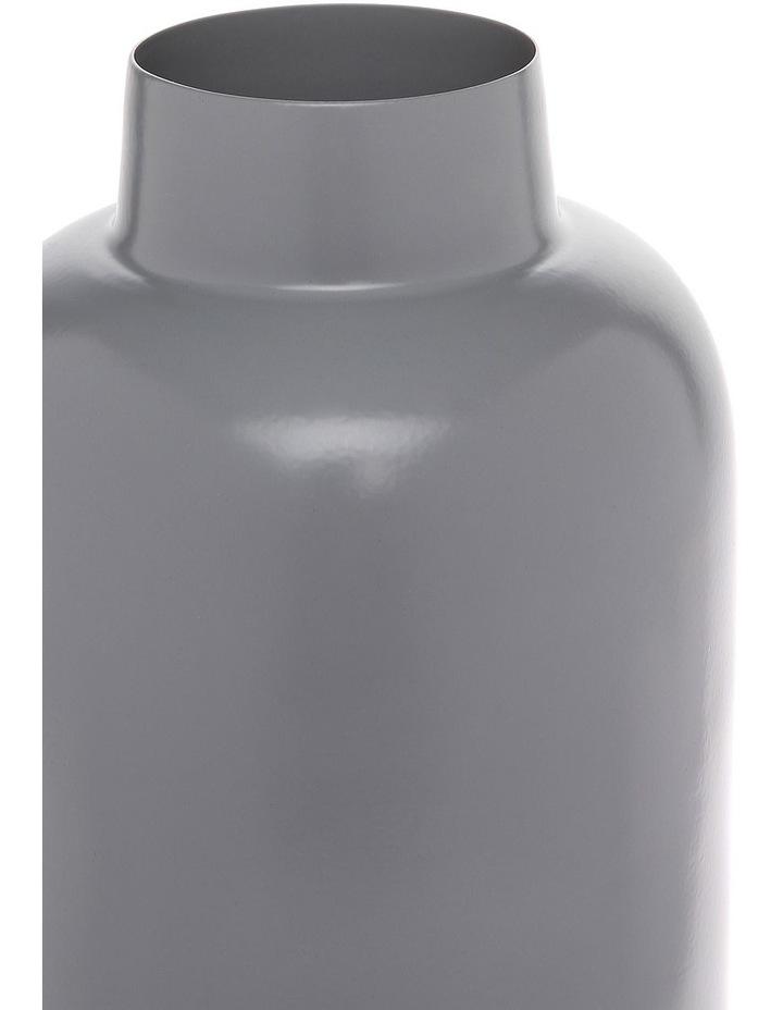 Simple Metal Small Vase Light Grey image 2