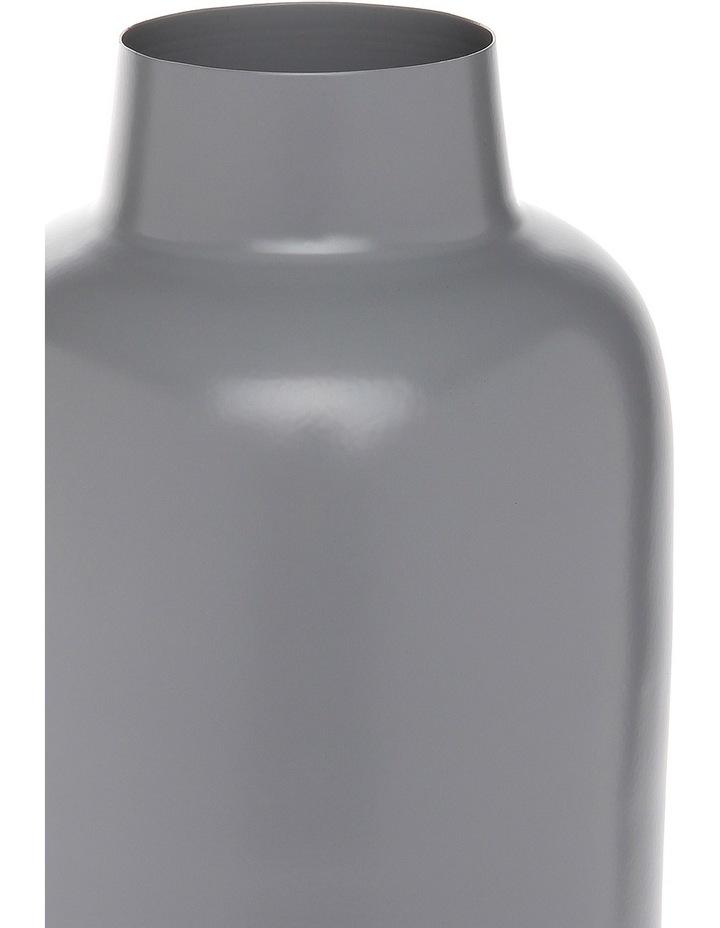 Simple Metal Large Vase Light Grey image 2