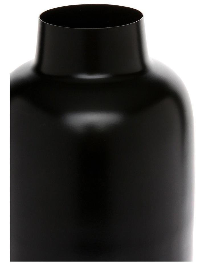Simple Metal Large Vase Black image 2