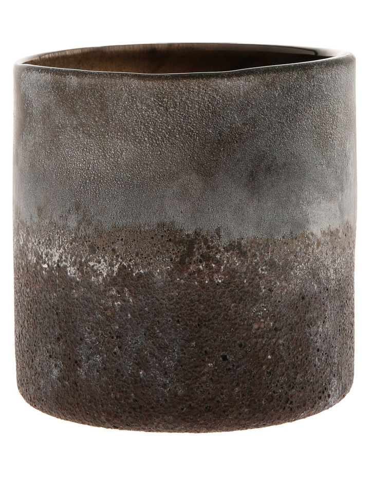 Textured Cylindrical Glass Vessel 15 cm Style No.17FP220 image 1