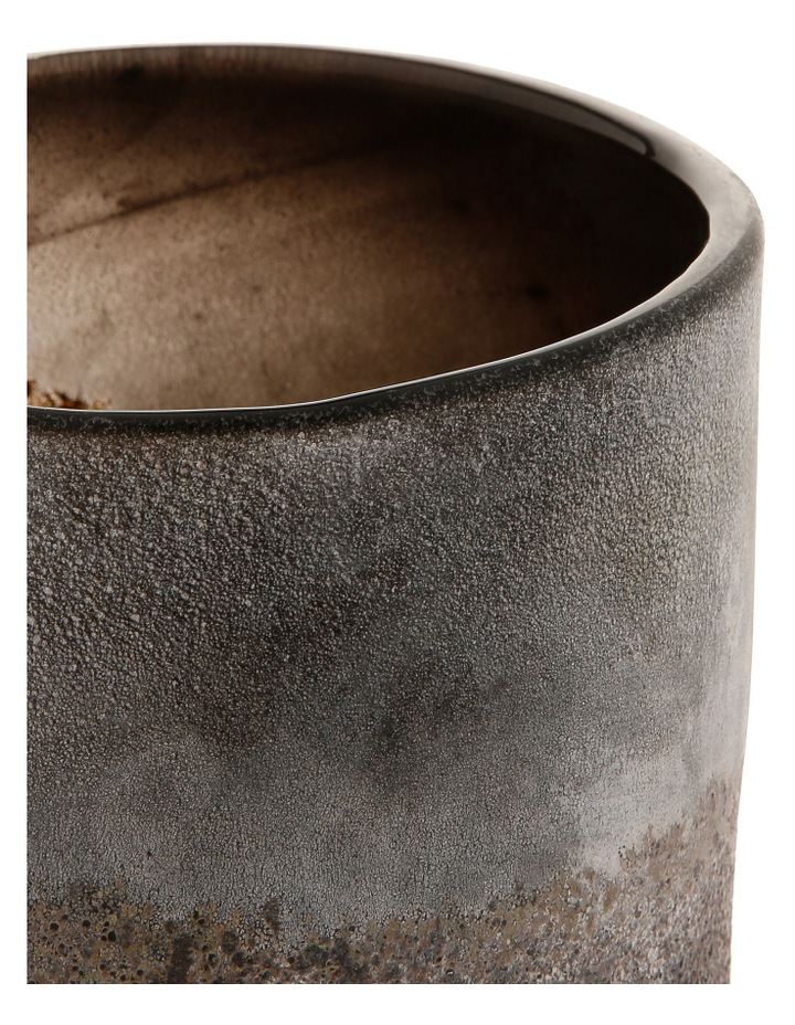 Textured Cylindrical Glass Vessel 15 cm Style No.17FP220 image 2