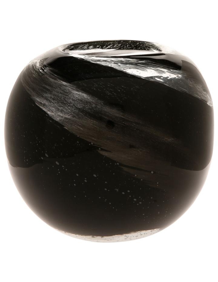 Swirl Glass Ball Vase Gold and Corsair image 1