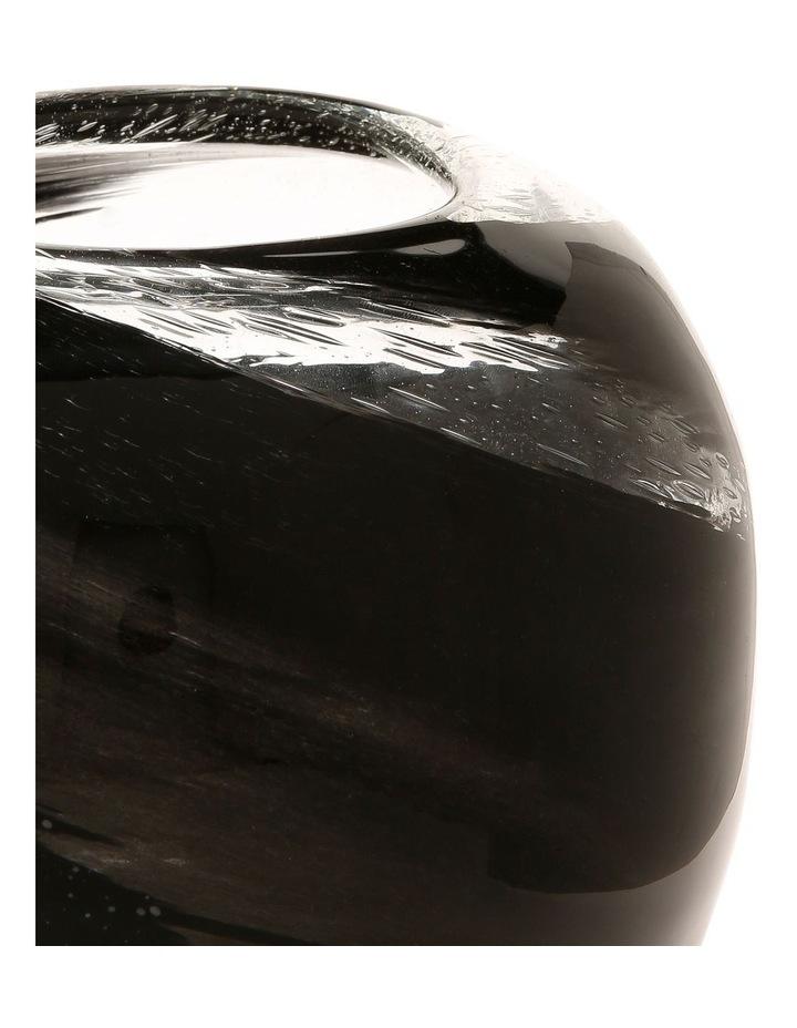 Swirl Glass Ball Vase Gold and Corsair 22x19.5cm image 2