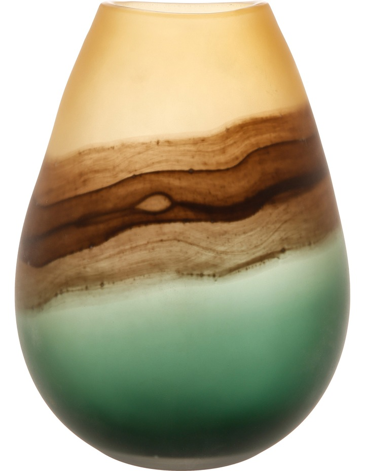 Tri-colour Frosted Glass Vase image 1