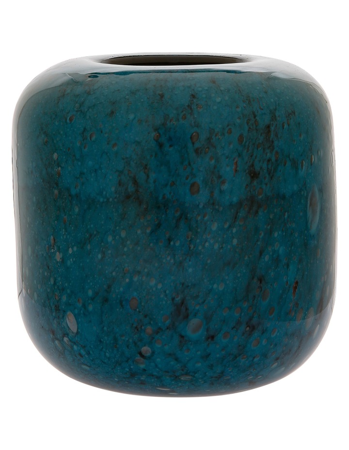 Glass Vase Small Dark Blue image 1