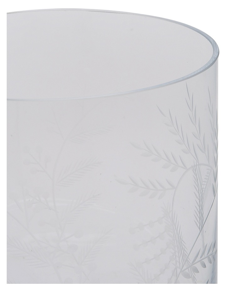 Etched Clear Glass Vase Small 18cm image 2