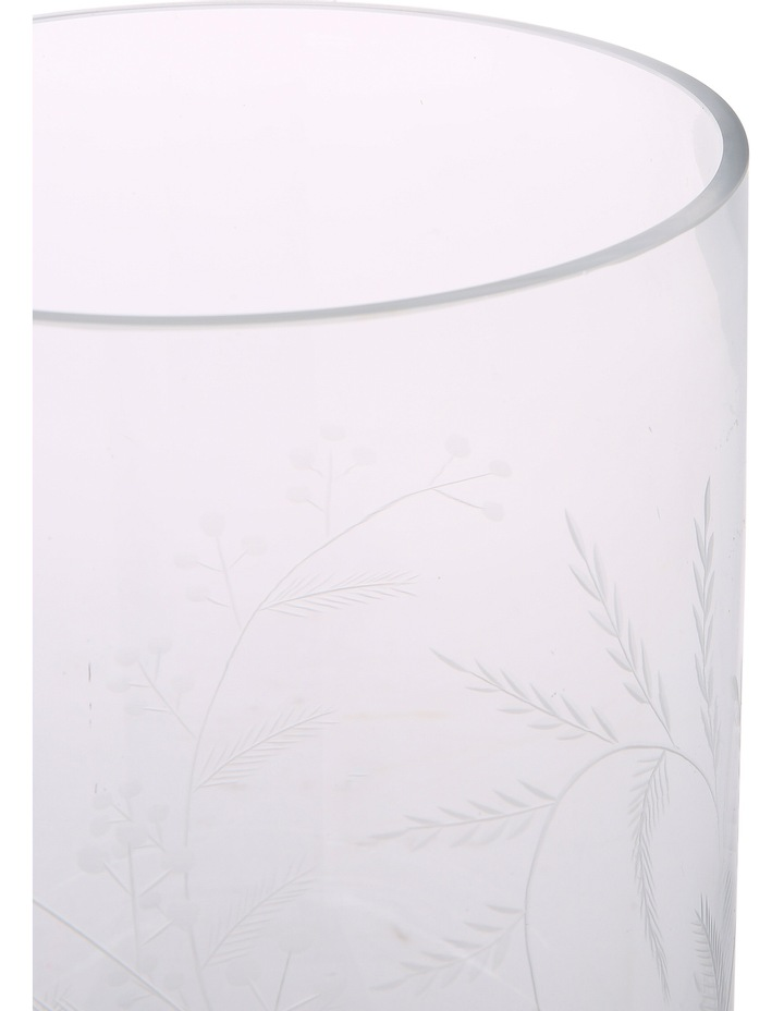 Etched Clear Glass Vase Large 28.5cm image 2