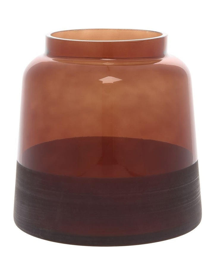 Small Electroplated Vase Brown 15cm image 1