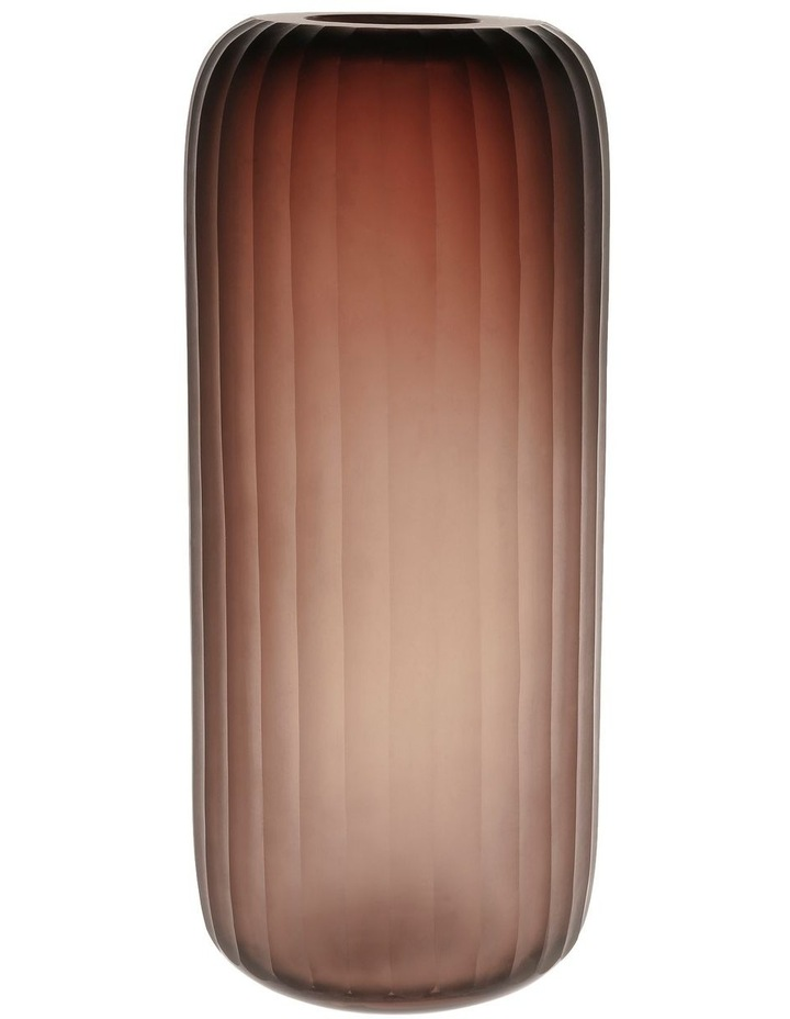 Etched Glass Vase Smoke 36cm image 1