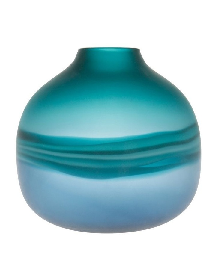 Frosted Oceanic Vase Teal 21cm image 1