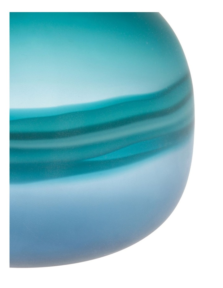 Frosted Oceanic Vase Teal 21cm image 3