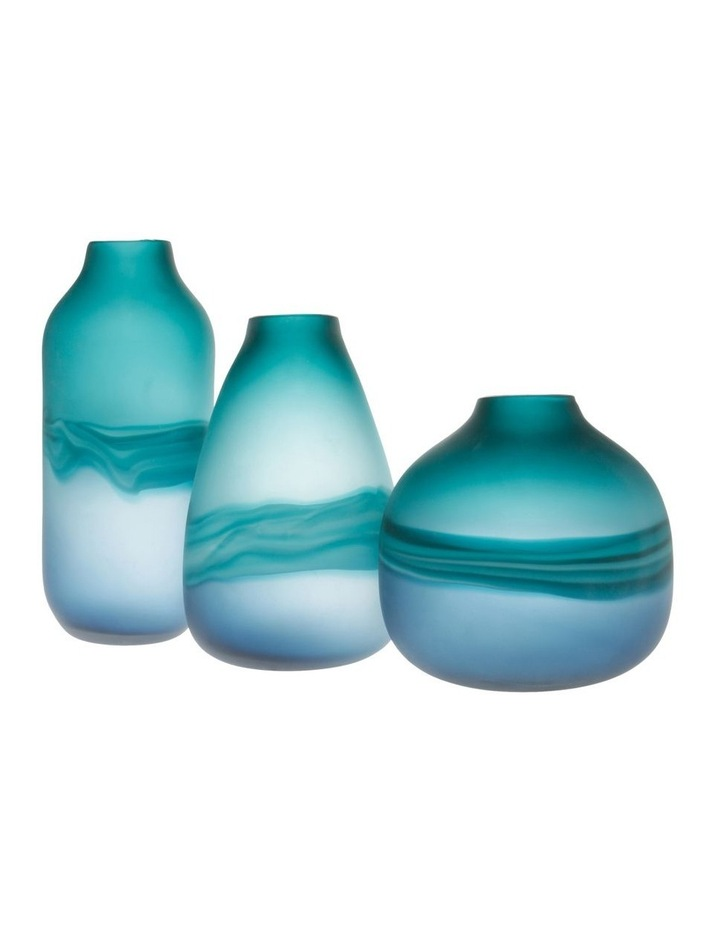 Frosted Oceanic Vase Teal 21cm image 4
