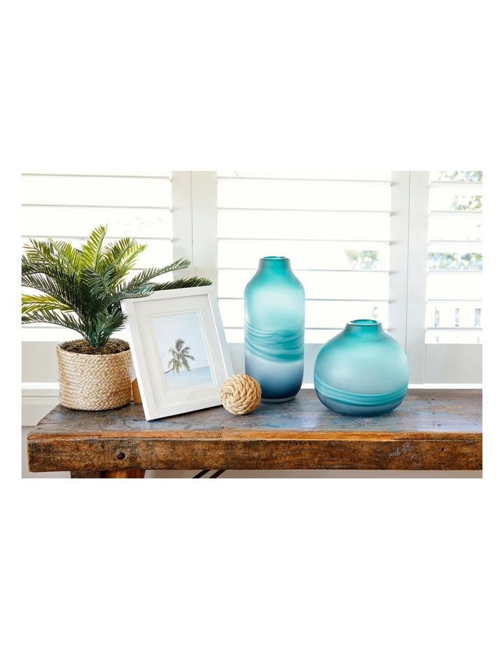 Frosted Oceanic Vase Teal 21cm image 5