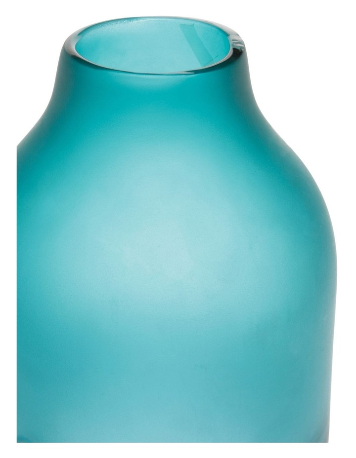 Frosted Oceanic Vase Teal 35cm image 2