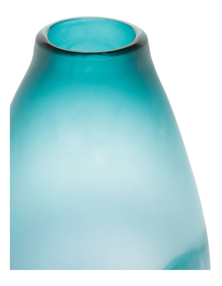 Frosted Oceanic Vase Teal 28cm image 2