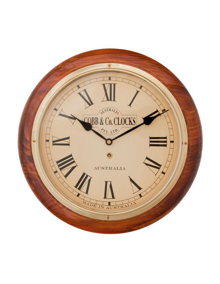 Railway Oak Clock  Medium  32cm image 1