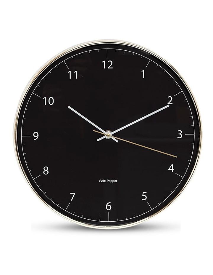 Blair 31cm Wall Clock in Black/Gold image 1