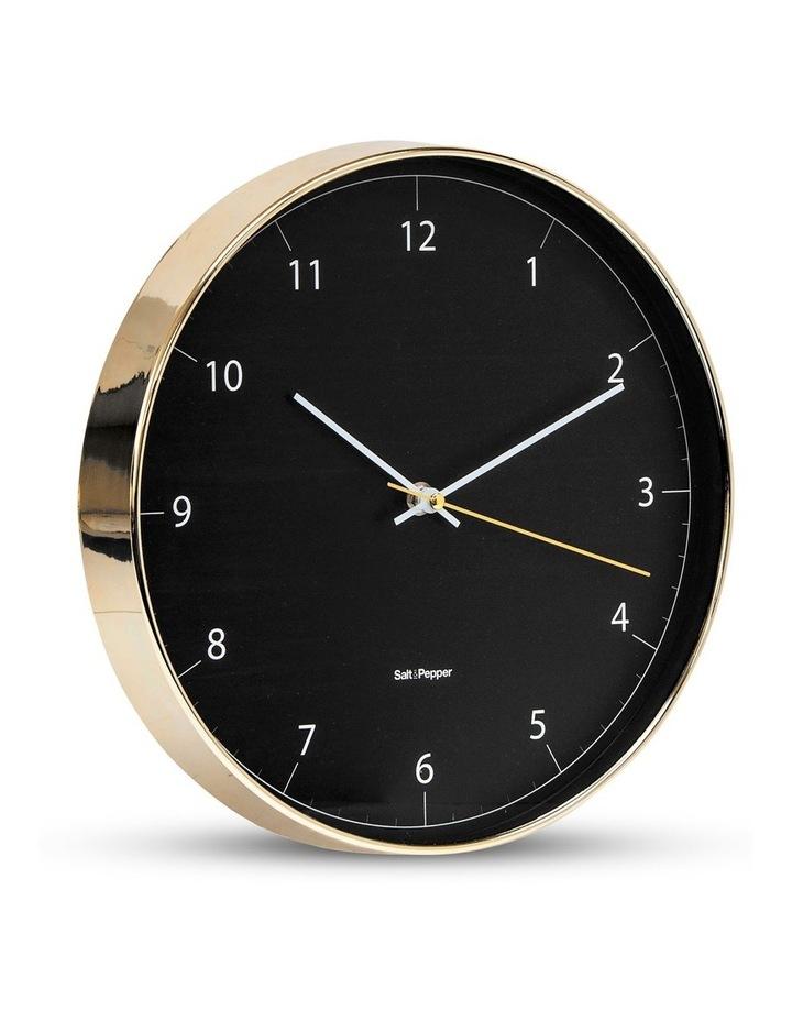 Blair 31cm Wall Clock in Black/Gold image 2