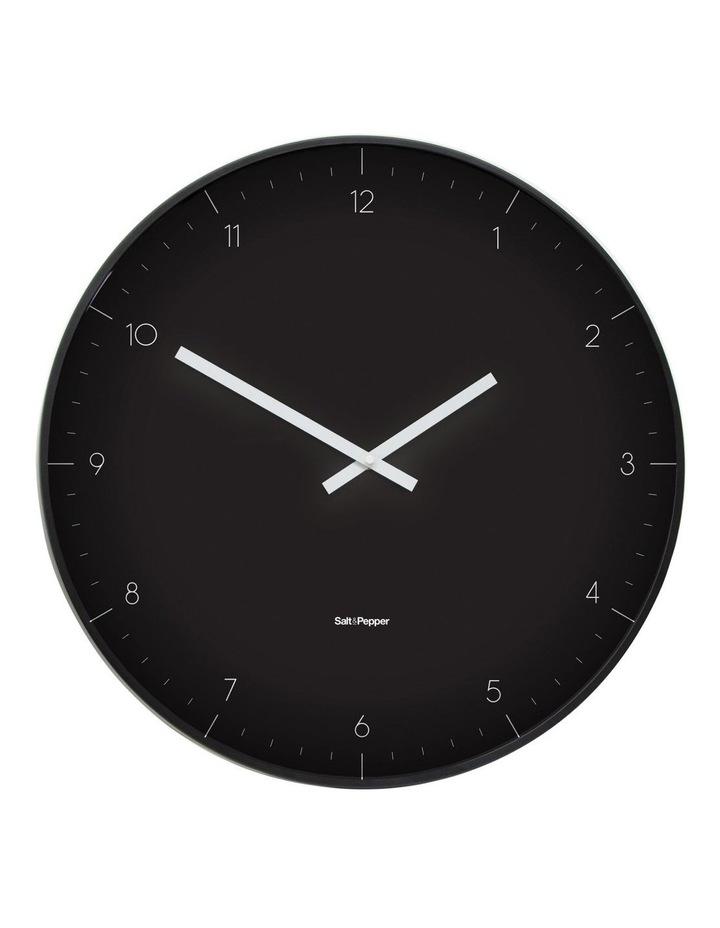 Elio Black Metal Clock 53.5cm image 1
