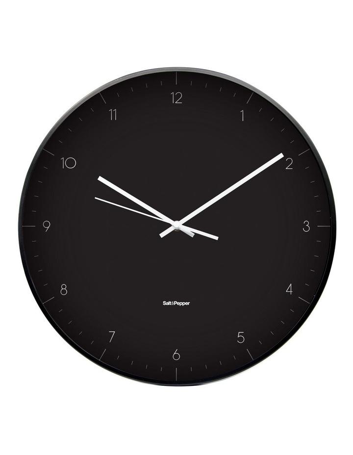 Elio Black Metal Clock 40.5cm image 1
