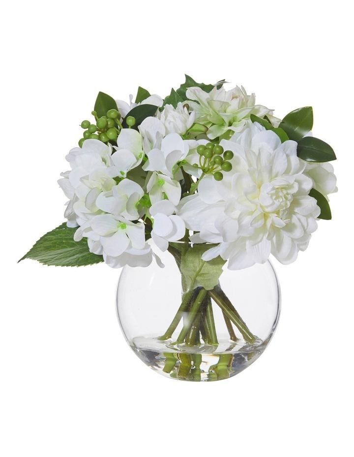 White Garden Mix-Glass Vase 25x24cm image 1