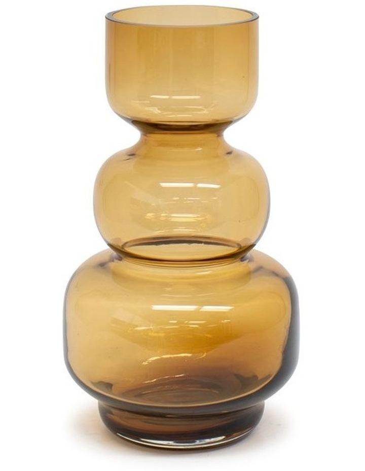 Anja 25cm Glass Vase in Amber image 1