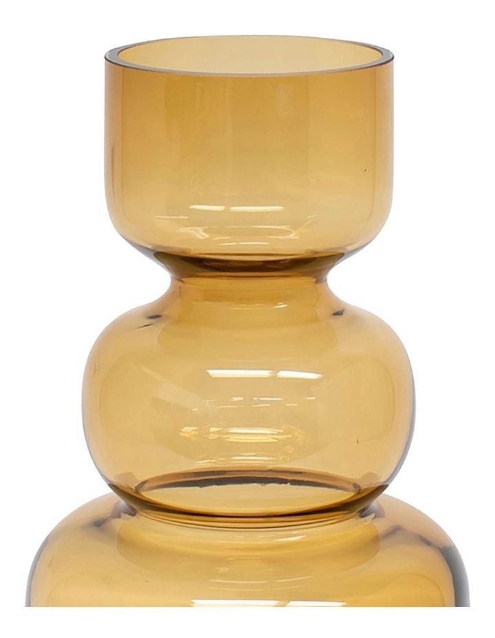 Anja 25cm Glass Vase in Amber image 2