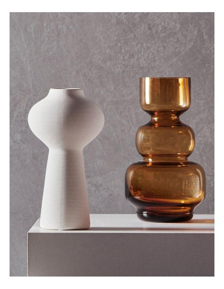 Anja 25cm Glass Vase in Amber image 3