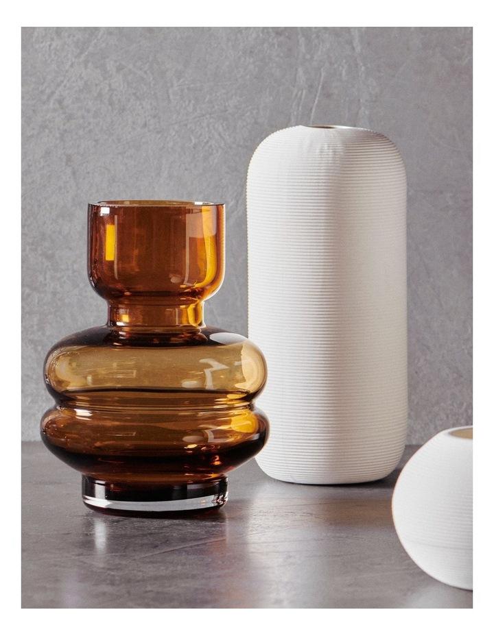Anja 20cm Glass Vase in Amber image 2