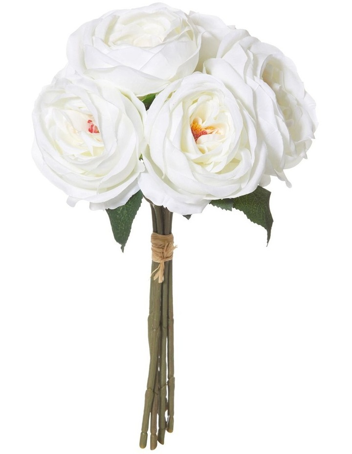 Columbian Rose Bouquet 37cm Flower Arrangement in White image 1