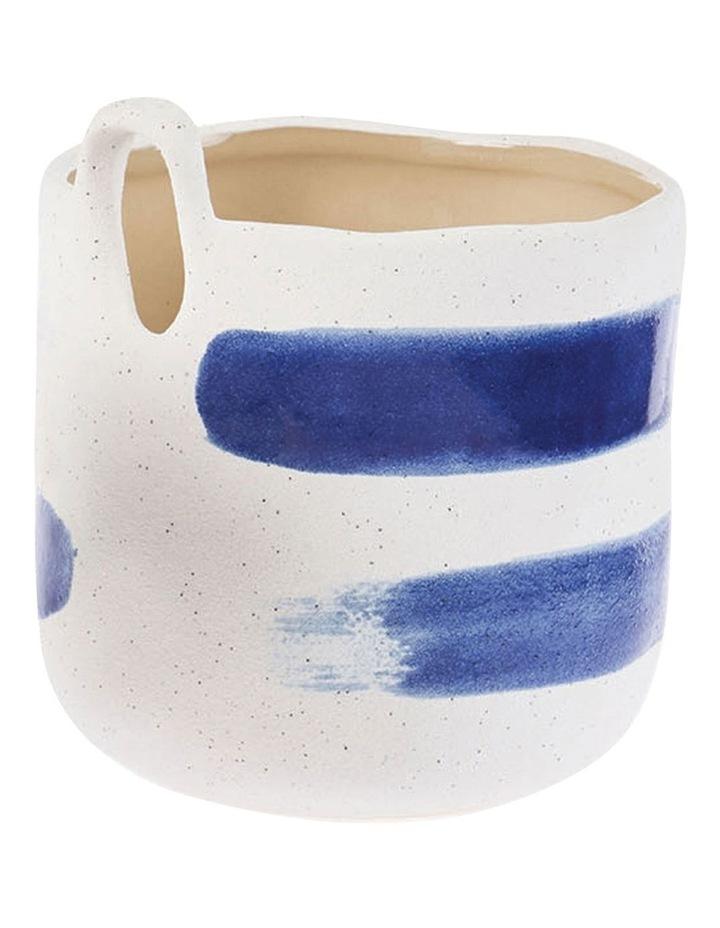 Linen House Paterna 15cm Planter Pot in Blue Stripe image 1