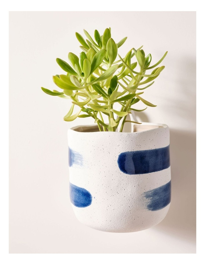 Linen House Paterna 15cm Planter Pot in Blue Stripe image 2
