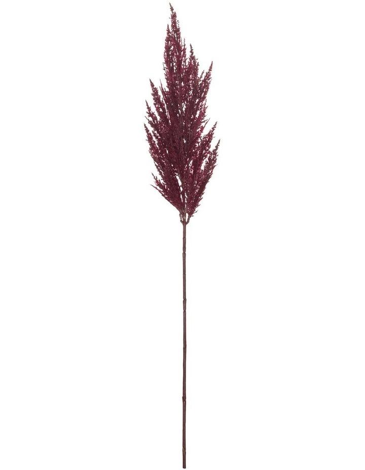 Pampas Grass Spray Burgandy 92cm image 1