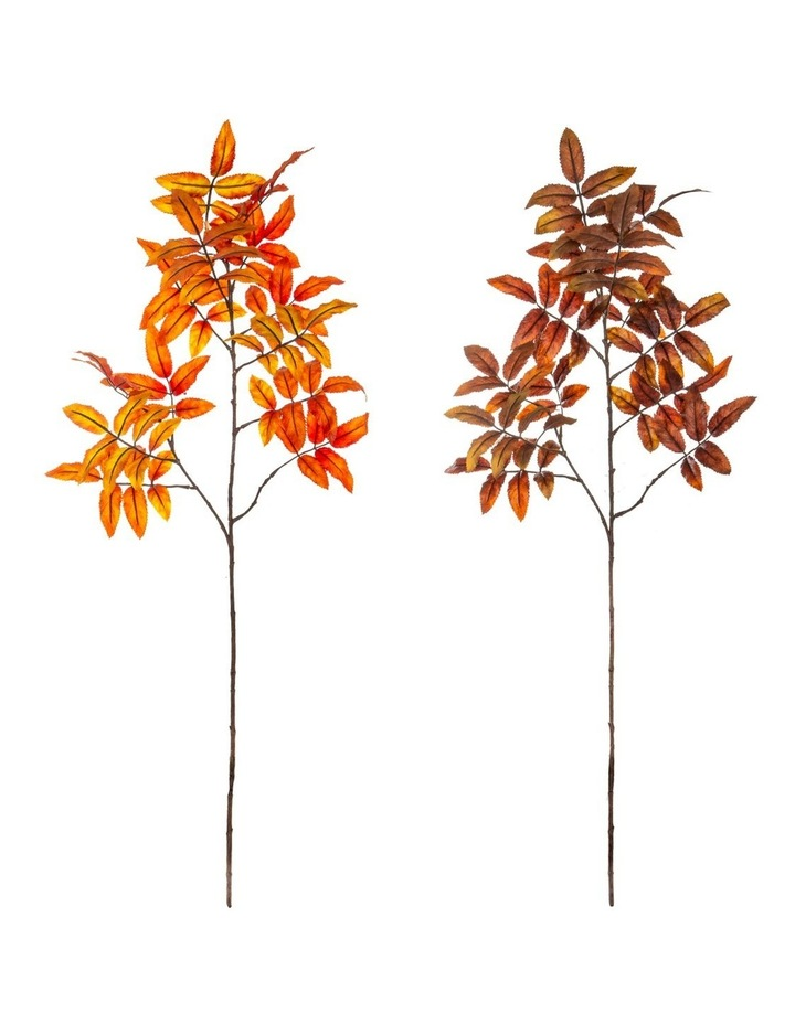 Artificial Autumn Sorbus Leaves 2 Asst 97cm image 1