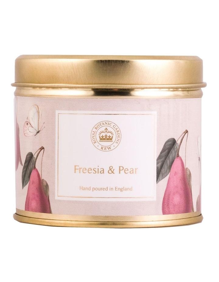 Kew Aromatics Freesia & Pear Candle in Tin 160g image 1
