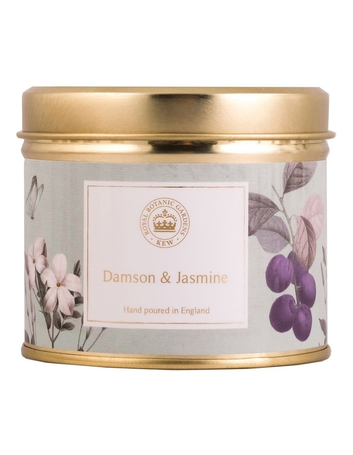 Kew Aromatics Damson & Jasmine Candle in Tin 160g image 1