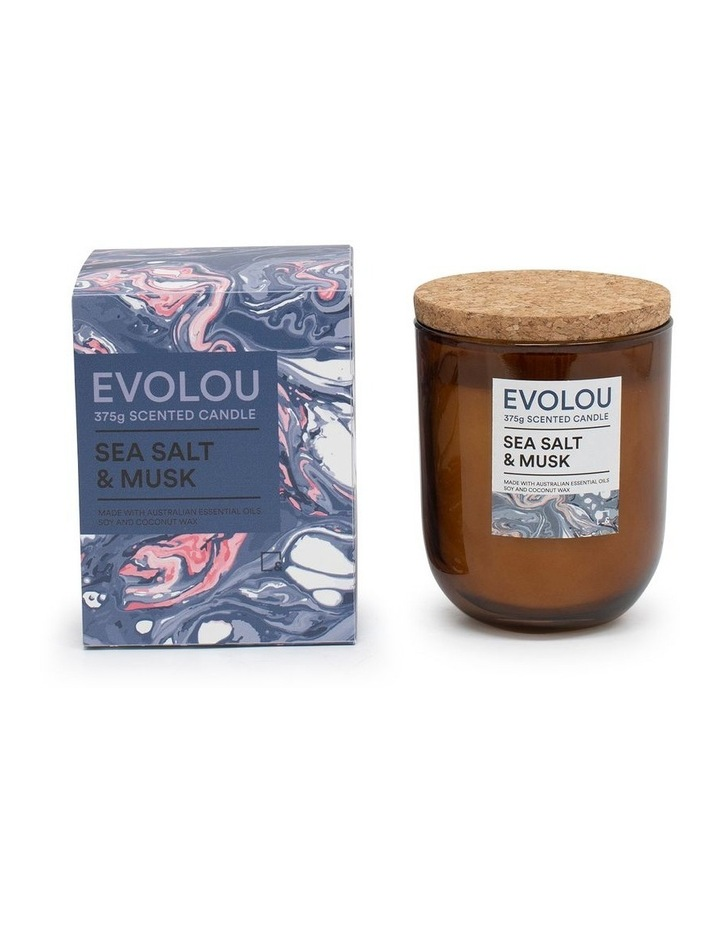 Evolou Candle Sea Salt & Musk 375g image 2