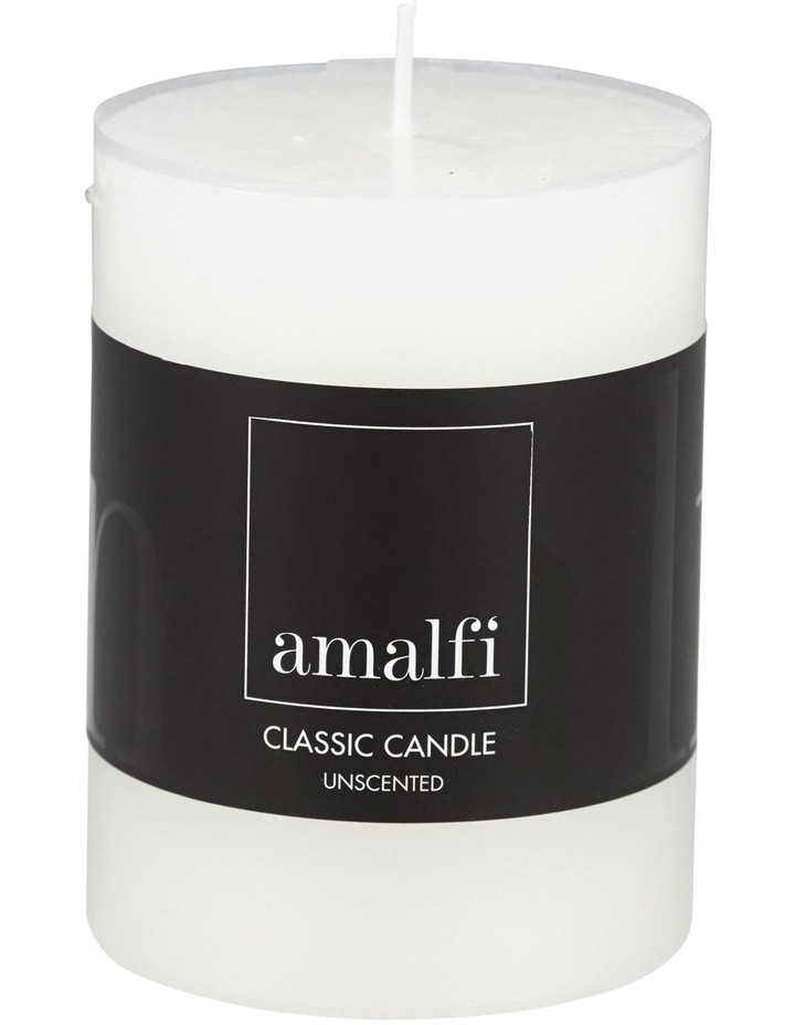 Classic Unscented Pillar Candle 7.5x10cm White image 1