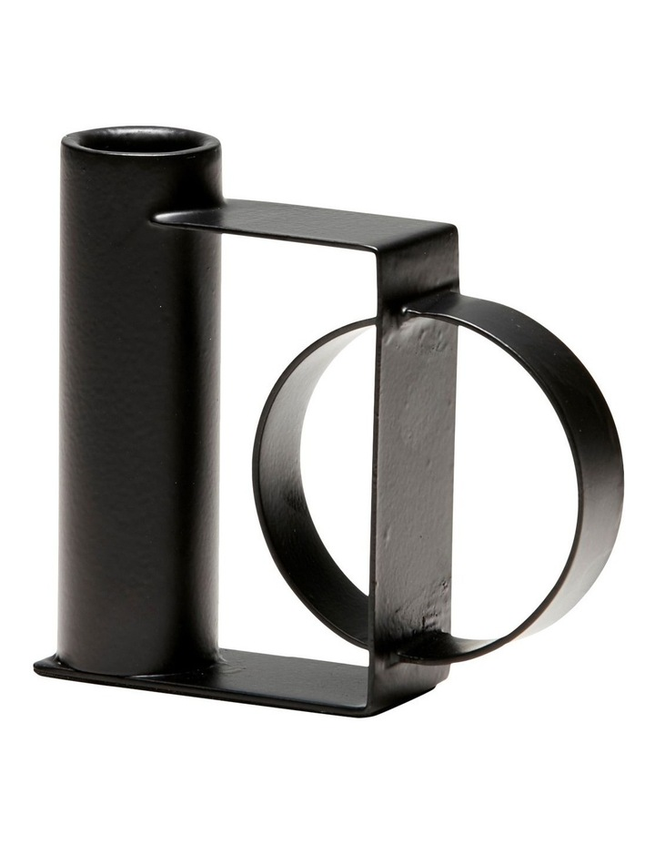 Symmetry Taper Candle Holder Black 10x10cm image 1