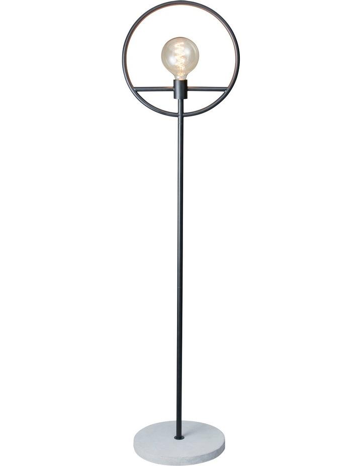 Georgia Concrete Base Floor Lamp 155cm - Black image 1