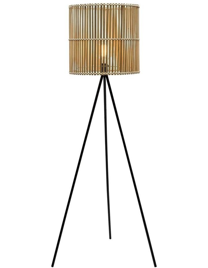 Bermuda Floor Lamp Natural Black 42x160cm image 1